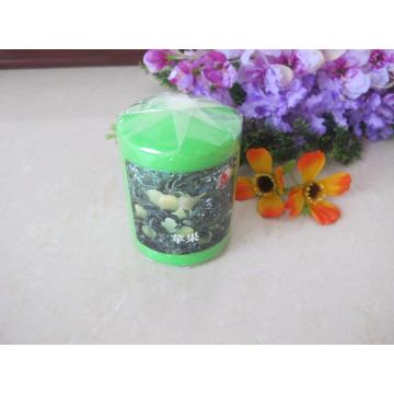 Scented Green Colour Pillar Candle
