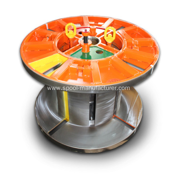 collapsible coiler reeler wire spooler