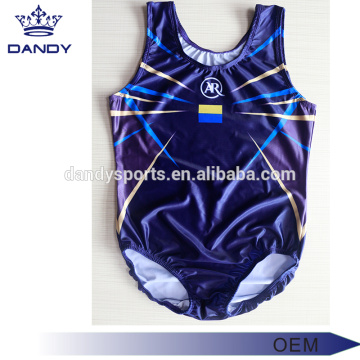 Hot sale Factory for Kids Gymnastics Leotards cheap sublimated navy blue mens leotard supply to Reunion Exporter