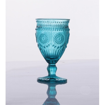 Colorful Unique Crystal Stylish Blue Wine Glasses