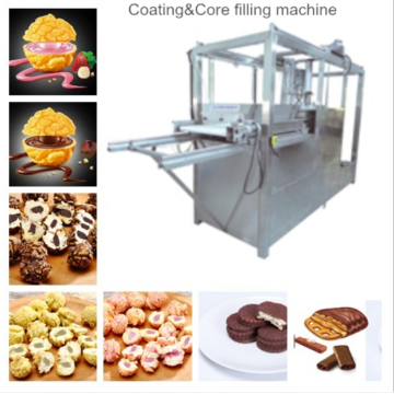 Coating and core filling popcorn machine