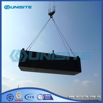 Steel marine pontoon dredging parts