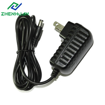 America Plug 12V DC 1000mA 12W Power Adaptor