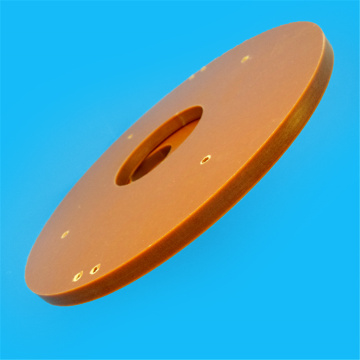 Processing thicker phenolic bakelite board orange