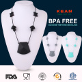 BPA Ffree silicone baby teething necklace