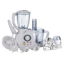 Multi-functional plastic bowl food preparation processor