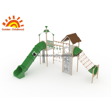 Climbing Play Equipment Outdoor with slide for sell
