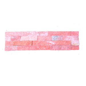 Pink Quarzite Natural Stacked Stone Cladding