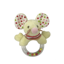 Plush Mouse Rattle Toy