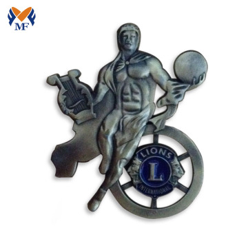Metal man 3D enamel lapel badge pin