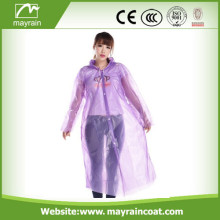 Purple PE Disposable Raincoat