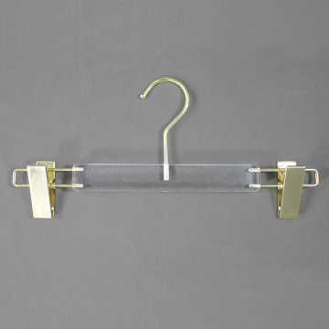 custom acrylic clip pants display hangers with clips