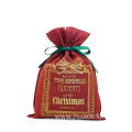 Enjoy Christmas Red Drawstring Packing Gift