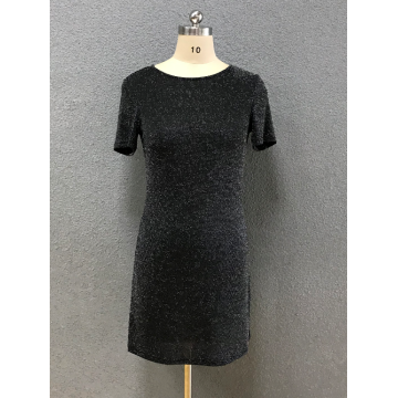 women's black slim dress