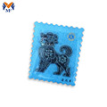 Decoration suqare shape lapel pin with dog logo