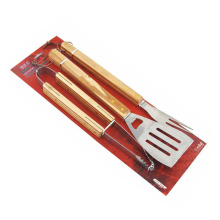 3pcs wooden handle bbq tool set