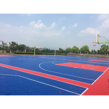 Outdoor interlocking floor basketball court mats