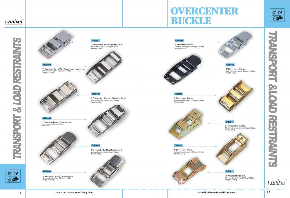 Over-Center Buckles Catalog