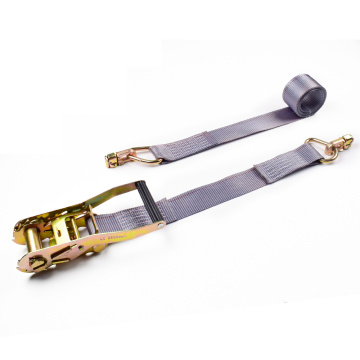 "2"" 5 Ton 50mm Plastic Handle Ratchet Buckle Cargo Lashing Straps With 6000lbs Double Stud Fitting"