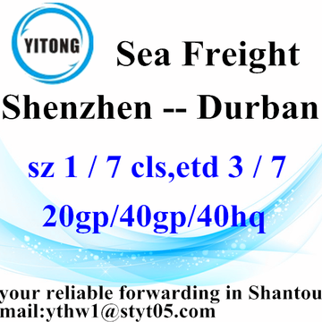 Shenzhen Global Shipping Agent to Durban
