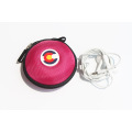 Mini round earphone case for Apple earphone