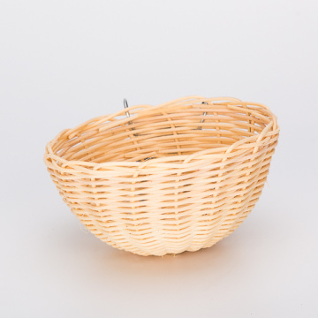 Leading for Wood Bird House Bowl Shaped Small Rattan Bird Nest export to Italy Manufacturers
