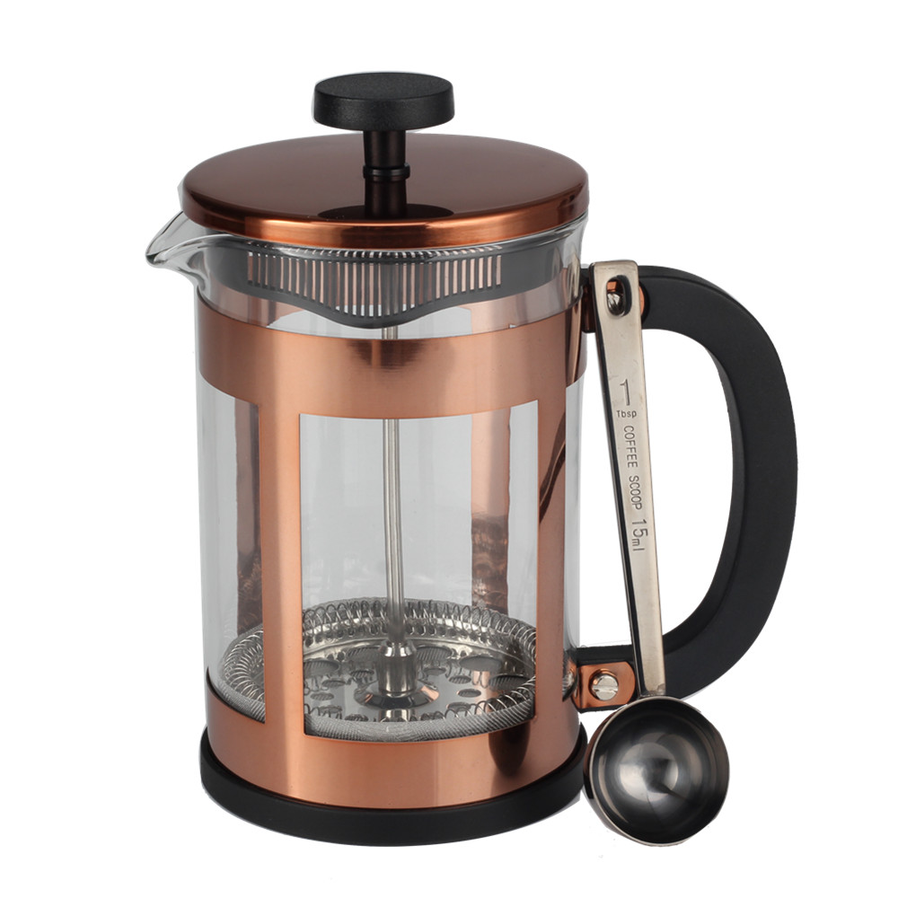 Glass French Press With Coffee Spoon