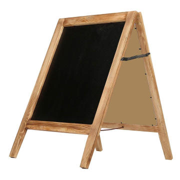 30-Inch Burnt Wood A-Frame Chalkboard Sign, Double Sidewalk Message Board