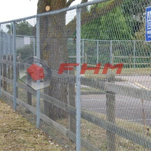 Galvanized Chain Link Fence for Slope
