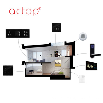 Hotel Management Software Custom Door Plate Wall Switch TV PC Data Touch Glass Metal Plastic Switch Panel Plug Sockets