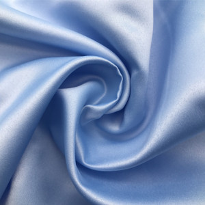 Smooth Blue Satin fabric