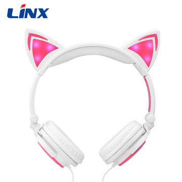 Light Up Glowing Cat Ear Cuffie di vendita calda