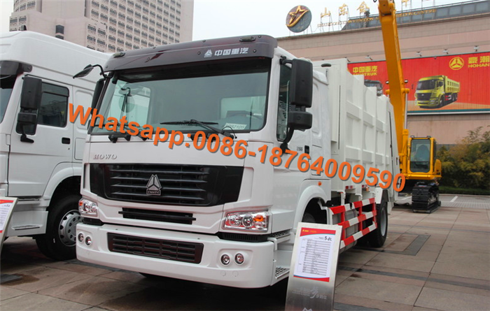 Howo 6x4 Compressed Garbage Truck