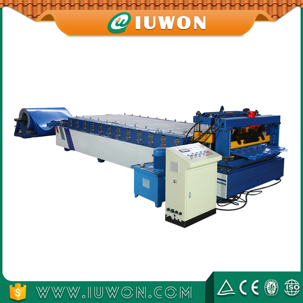 IUWON Steel Metal Roof Tile Forming Machine