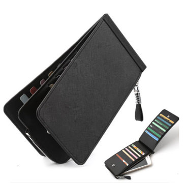 Mens Slim Leather Wallet Card Holder Rfid