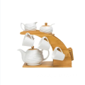 Bamboo craft tea set