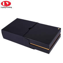 Square gift black belt box with sleeve