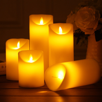 Flameless Battery Operated Real Wax Pillar LED Candles