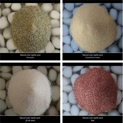 Safety beauty colorful sand for reptile