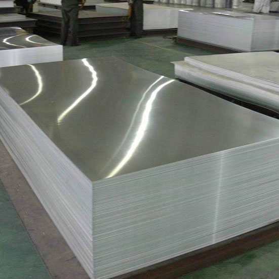 Aluminium plate for train