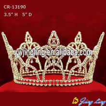 Full Round Gold Plated King Pageant Crown