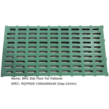 Composite resin slatted floor for pig for sheep