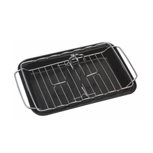 non-stick basting bbq grill chicken roaster with tray
