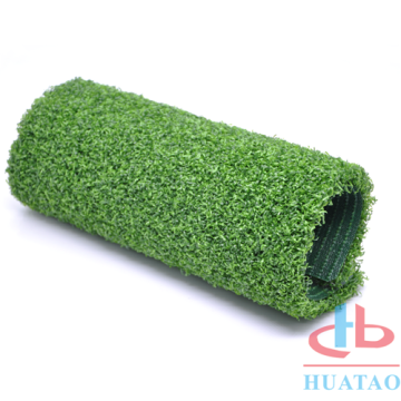 Quick drainage curled artificial turf mini golf grass