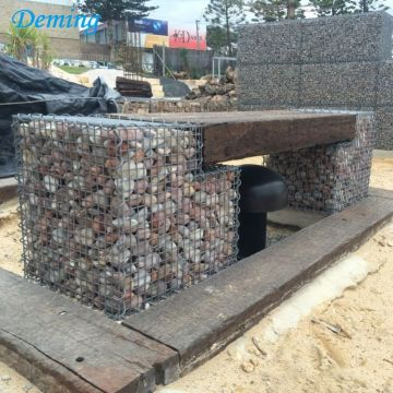 Rock Block Retaining Walls Zinc Aluminum Gabion Baskets