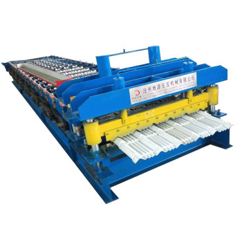 Glazed metal roofing sheet making machine