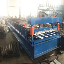 Metal roofing sheet rolling machine