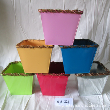 High Definition For for Garden Flower Pots Square Balcony Metal Iron Flower Pot supply to United States Manufacturers
