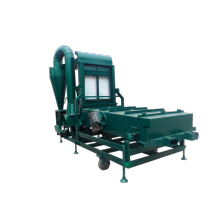 Mini wheat cleaning machine with wheat huller