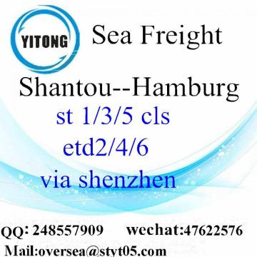 Shantou port sea freight shipping to Hamburg